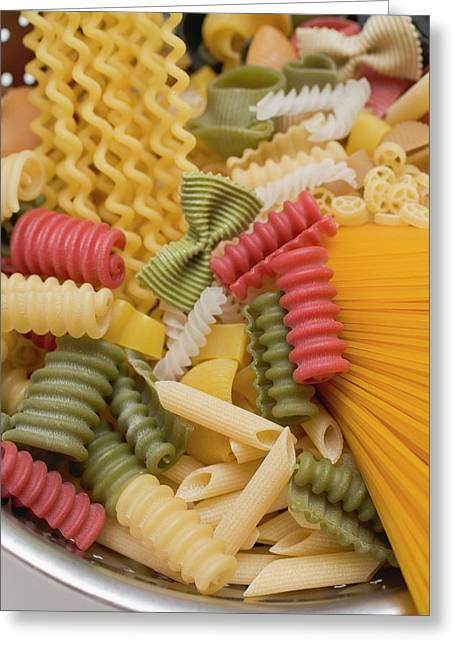 Various Types Of Coloured Pasta Greeting Card