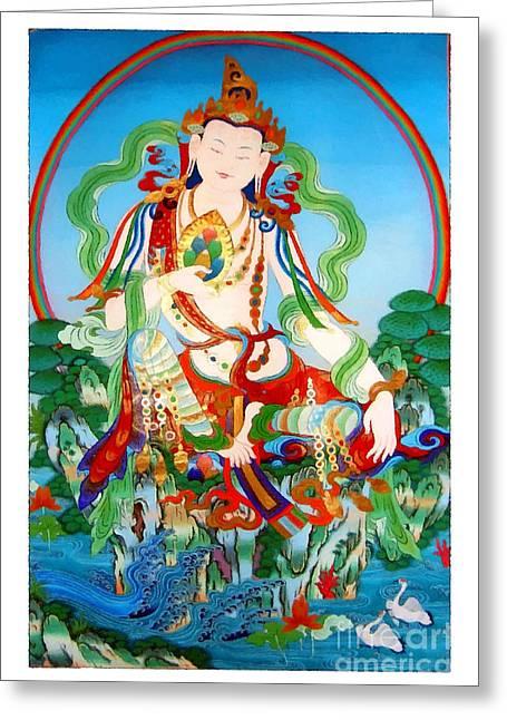 Vasudhara 3 Greeting Card by Lanjee Chee