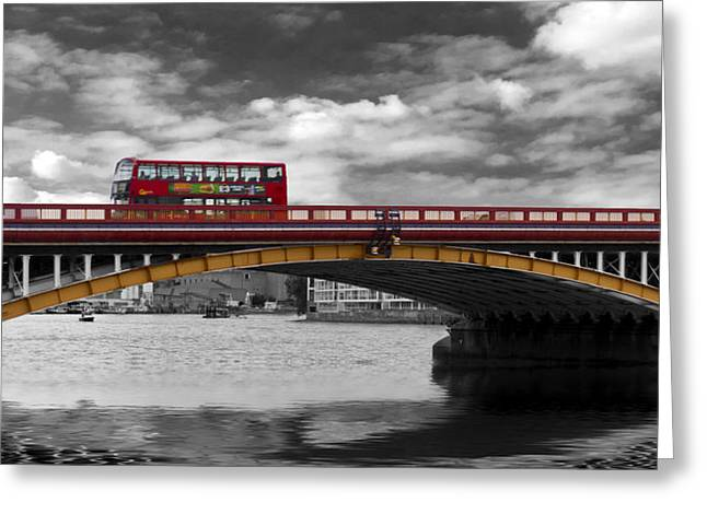 Vauxhall Bridge Thames London Greeting Card