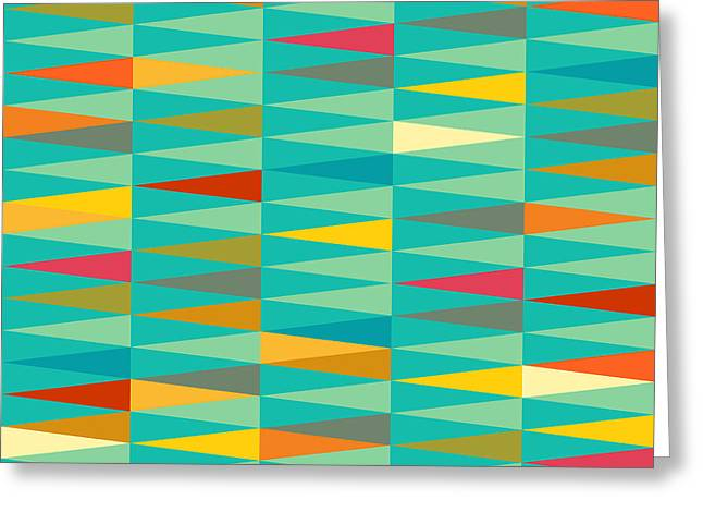 Vector Abstract Geometric Triangle Greeting Card