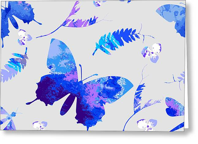 Vector Floral Watercolor Texture Greeting Card
