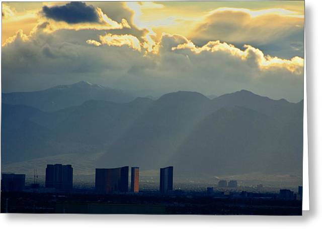 Vegas Sunset After The Storm Greeting Card