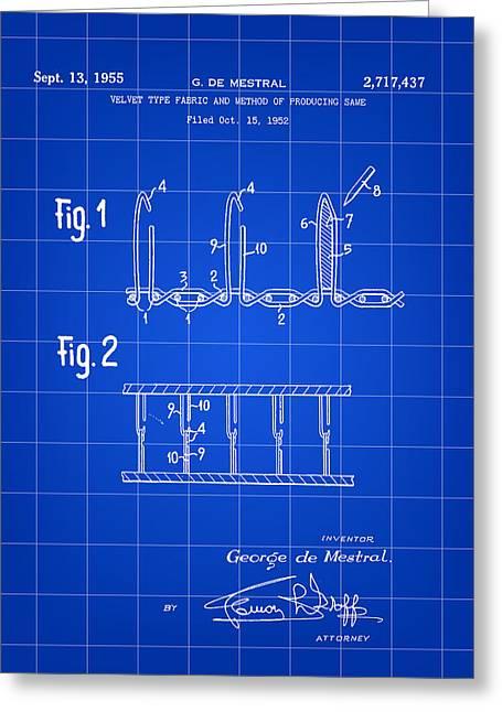 Velcro Patent 1952 - Blue Greeting Card