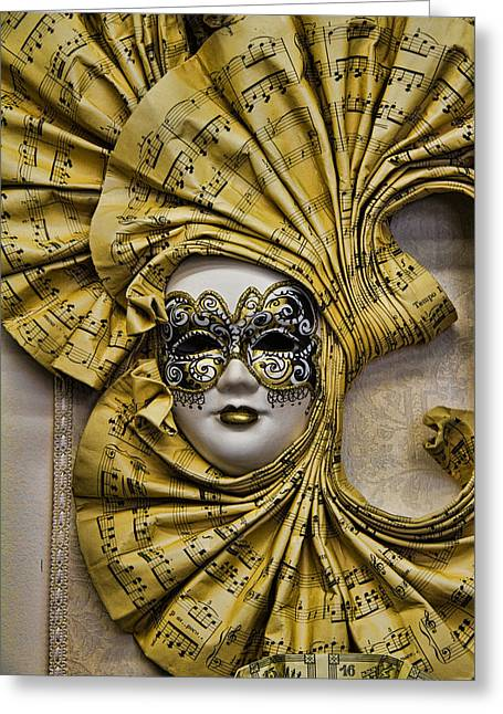 Venetian Carnaval Mask Greeting Card