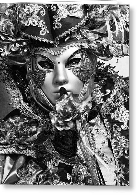 Venetian Mask Greeting Card by Yuri Santin