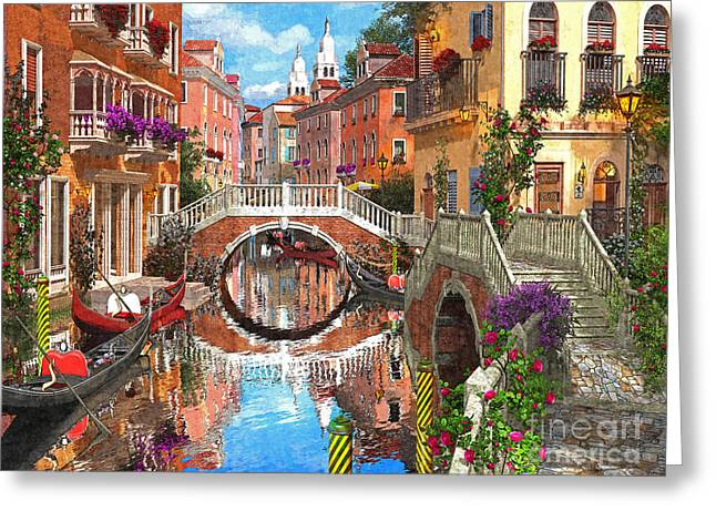 Venetian Waterway Greeting Card