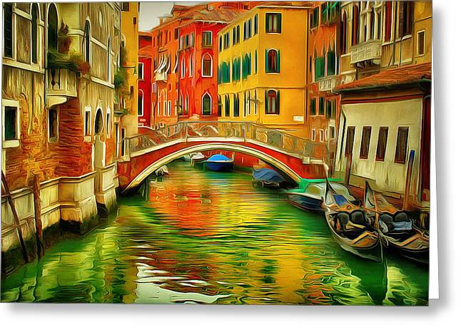 Venice Bridges 1 Greeting Card