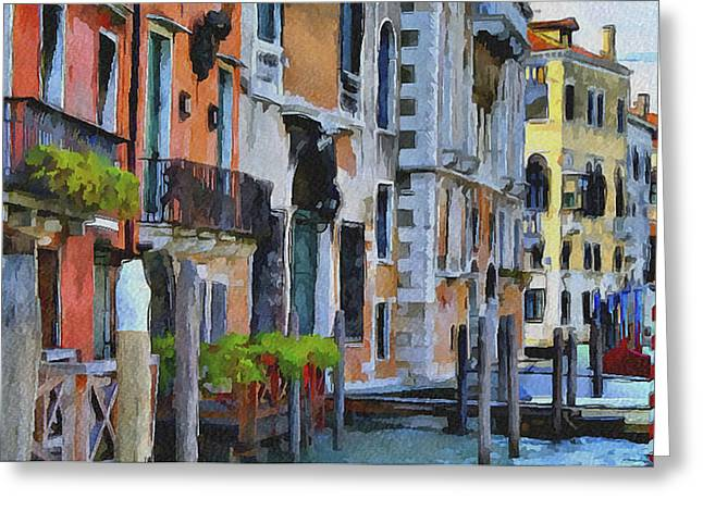 Venice Canals Watercolor 6 Greeting Card