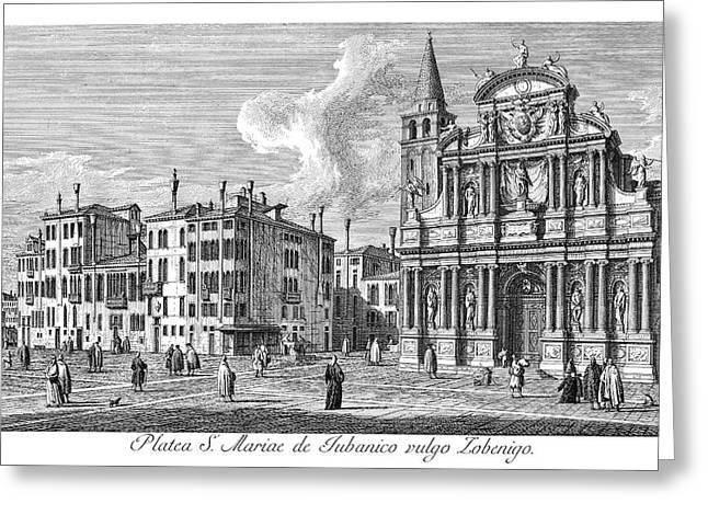 Venice Church, 1735 Greeting Card by Granger