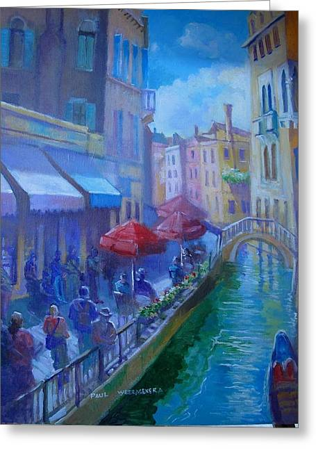 Venice  Italy Greeting Card by Paul Weerasekera