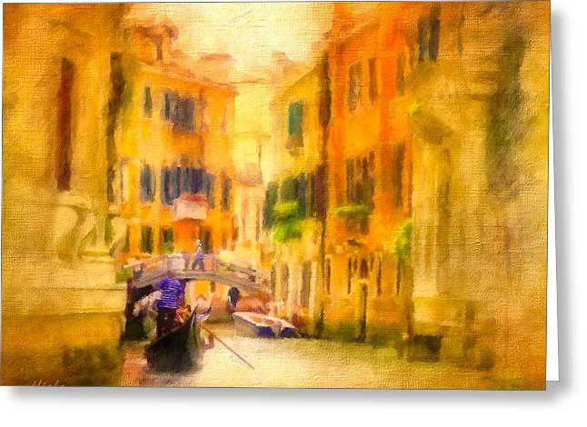 Venice Waterway No. 4 Greeting Card by Jane Fiala