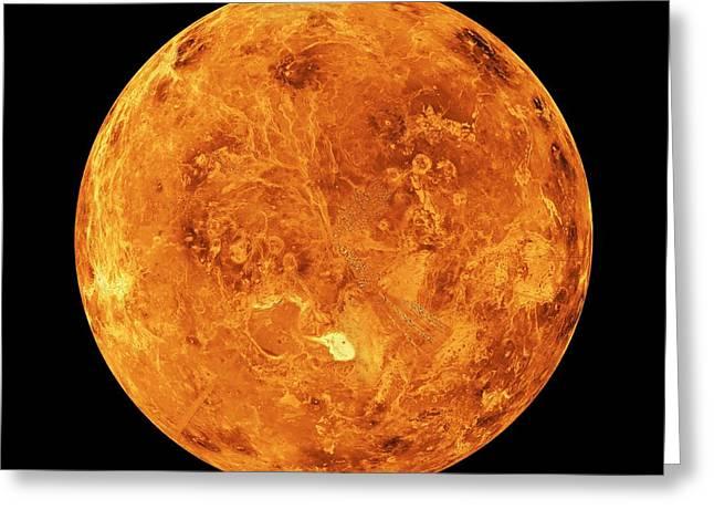 Venus Greeting Card by Nasa/jpl