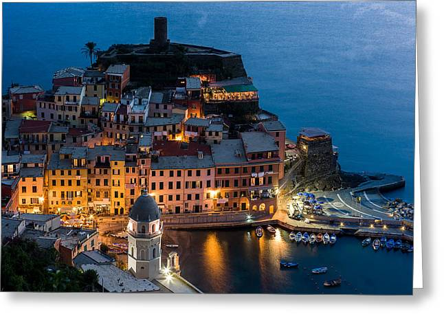 Greeting Card featuring the photograph Vernazza Harbor by Carl Amoth