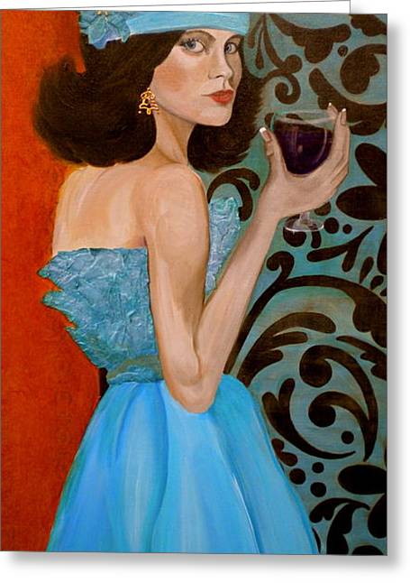 Veronica Greeting Card by Debi Starr