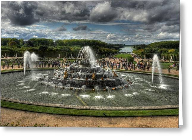 Versailles Fountain Greeting Card