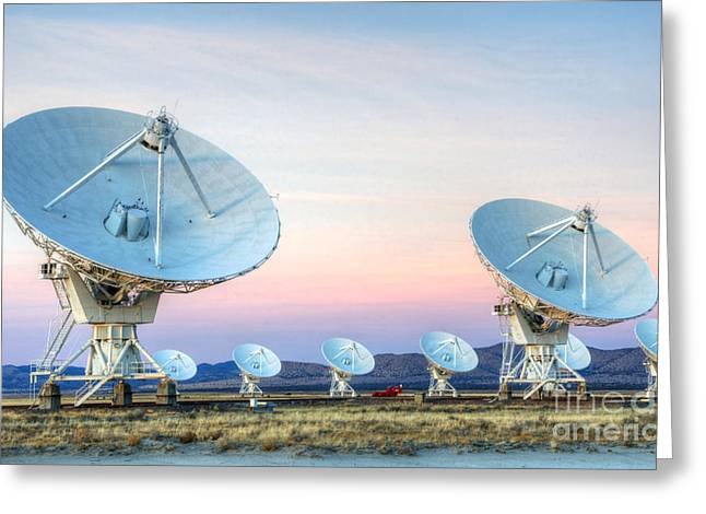Very Large Array Of Radio Telescopes  Greeting Card by Bob Christopher