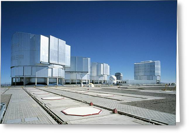 Very Large Telescope (vlt) Greeting Card by European Southern Observatory