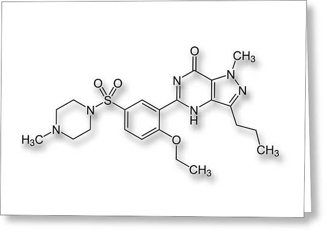 Viagra Drug Structure Formulae Greeting Card