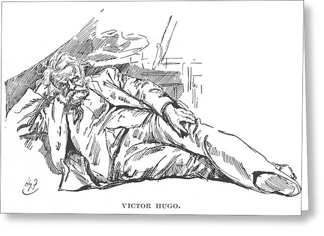 Victor Hugo  French Novelist Greeting Card by Mary Evans Picture Library