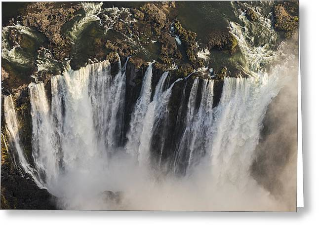 Victoria Falls And Rainbow Zimbabwe Greeting Card