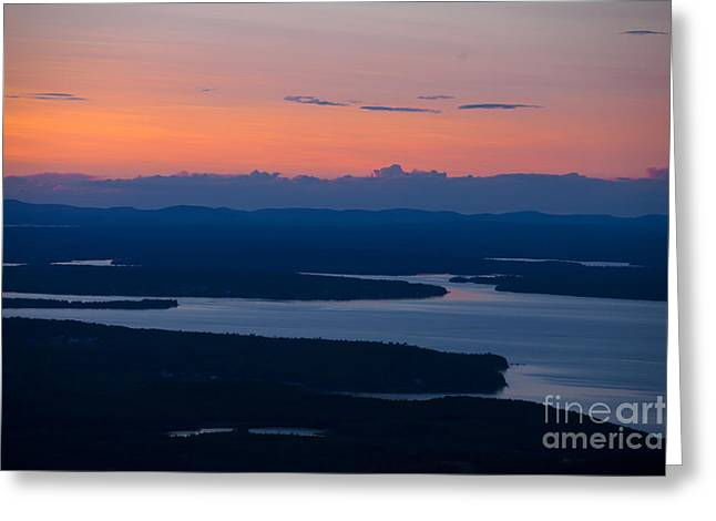 View From Cadillac Mountain Greeting Card by Diane Diederich