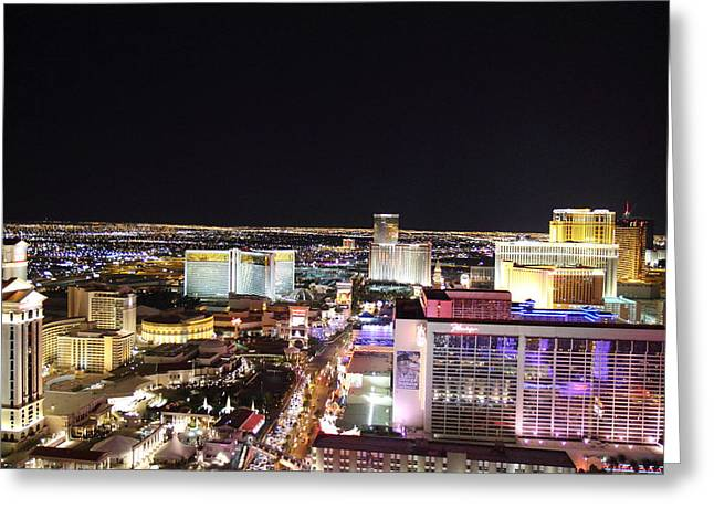View From Eiffel Tower In Las Vegas - 01133 Greeting Card by DC Photographer