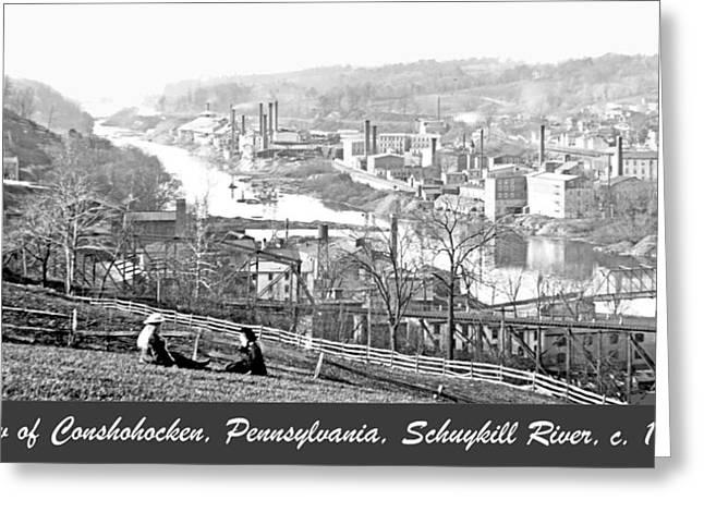 View Of Conshohocken Pennsylvania C 1900 Greeting Card