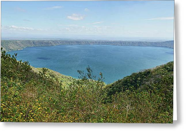 View Of Laguna De Apoyo Greeting Card by Panoramic Images