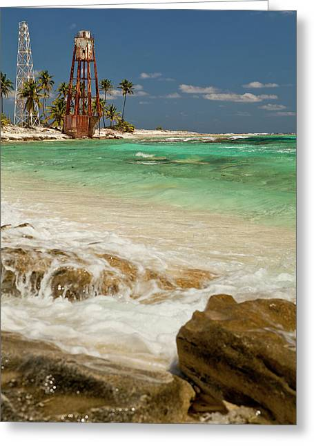 View Of Lighthouse On Half Moon Caye Greeting Card