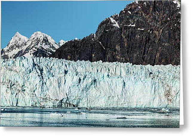 View Of Margerie Glacier In Glacier Bay Greeting Card