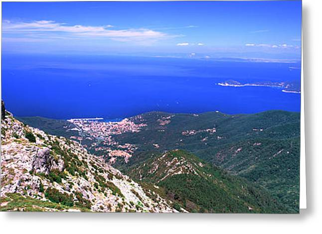 View Of Mount Capanne, Island Of Elba Greeting Card by Panoramic Images