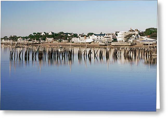 View Of Pier In Ocean, Provincetown Greeting Card