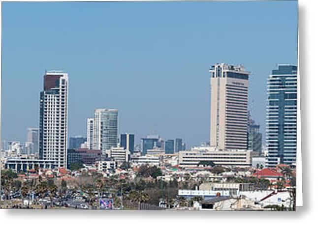 View Of Skylines, Tel Aviv, Israel Greeting Card