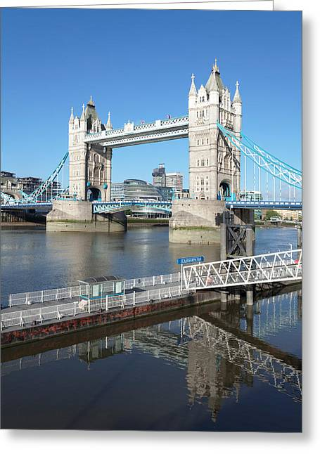 View Of St. Katharine Pier And Tower Greeting Card