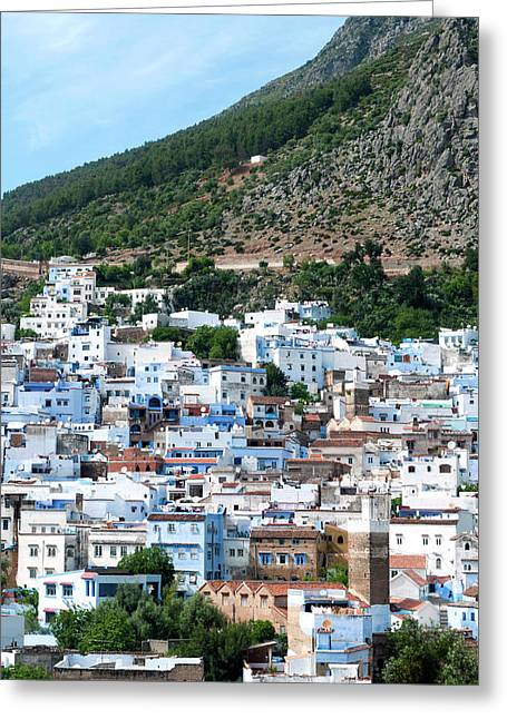 View Of The City, Chefchaouen (chaouen Greeting Card by Nico Tondini