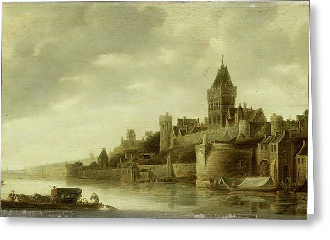 View Of The Valkhof At Nijmegen, The Netherlands Greeting Card by Litz Collection