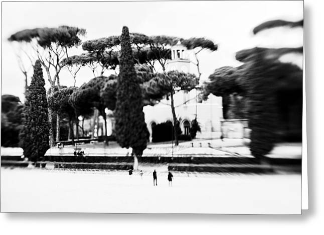 Villa Borghese Greeting Card by Eugenia Kirikova
