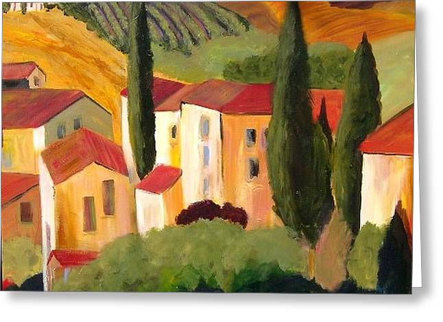 Villas Of Tuscany  Greeting Card by Therese Fowler-Bailey