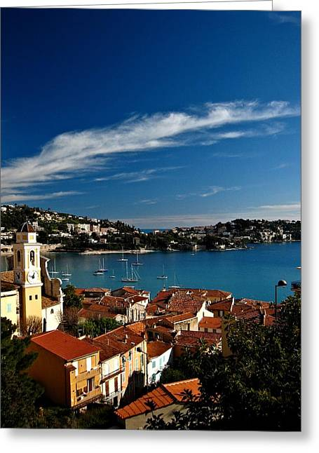 Villefranche-sur-mer Greeting Card by Stephanie Tomlinson