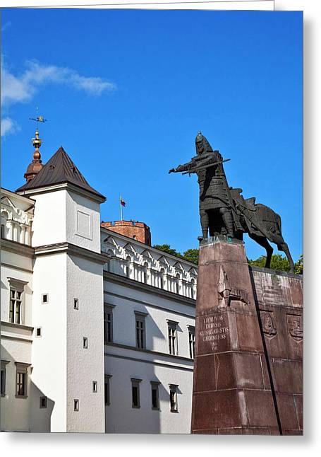 Vilnius, Lithuania, Lietuva, Monument Greeting Card by Miva Stock