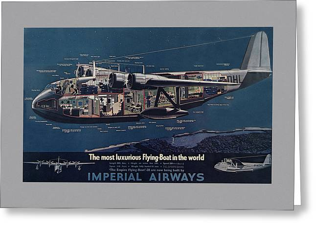 Vintage Airline Ad 1936 Greeting Card by Andrew Fare