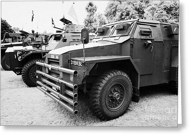 Vintage British Army Military Vehicles On Display County Down Northern Ireland Uk Greeting Card