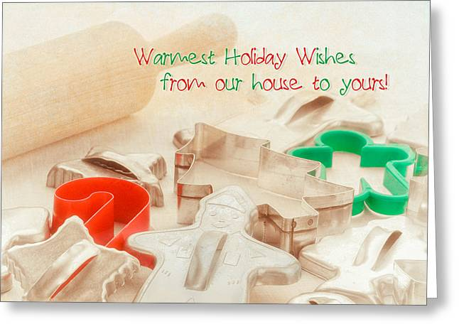 Vintage Christmas Cookie Cutters  Greeting Card by Marianne Campolongo