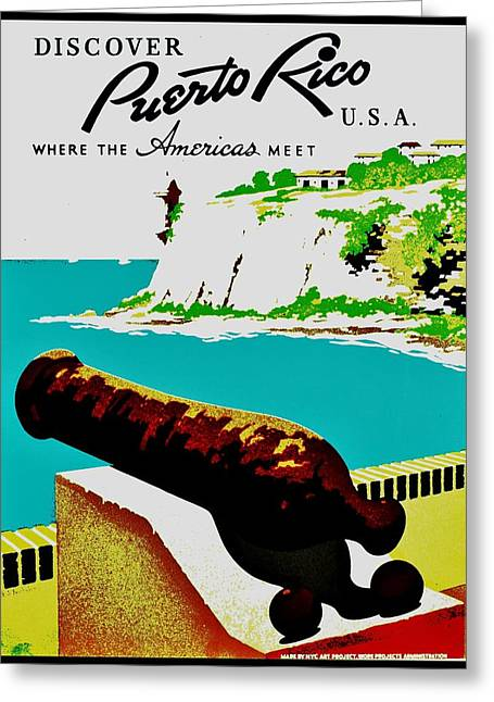 Vintage Poster - Puerto Rico Greeting Card by Benjamin Yeager