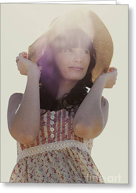 Vintage Summer Flare Greeting Card by Jorgo Photography - Wall Art Gallery
