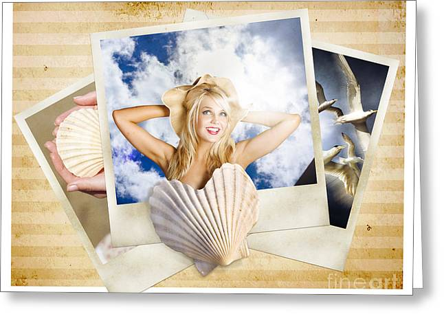 Vintage Travel Love. Retro Holiday Photo Gallery Greeting Card
