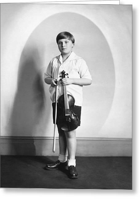 Violinist Yehudi Menuhin Greeting Card