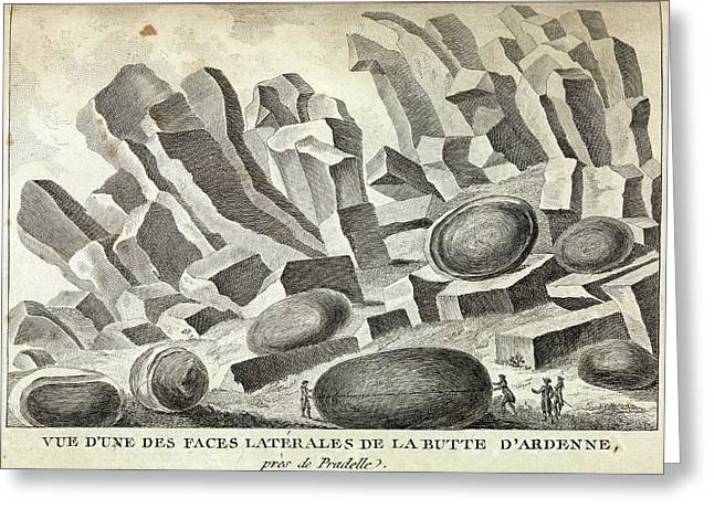 Volcanic Basalt Formations Greeting Card by Royal Institution Of Great Britain