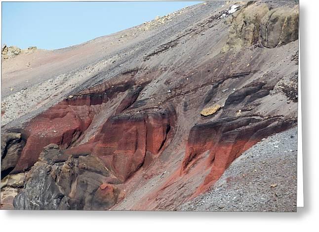 Volcanic Rocks On Deception Island Greeting Card by Ashley Cooper