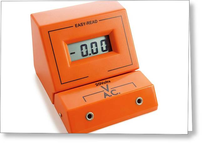 Voltmeter Greeting Card by Science Photo Library